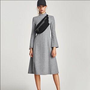 c9c1fdf7 Zara Dresses | Wool Long Sleeve Peplum Waist Flare Dress | Poshmark